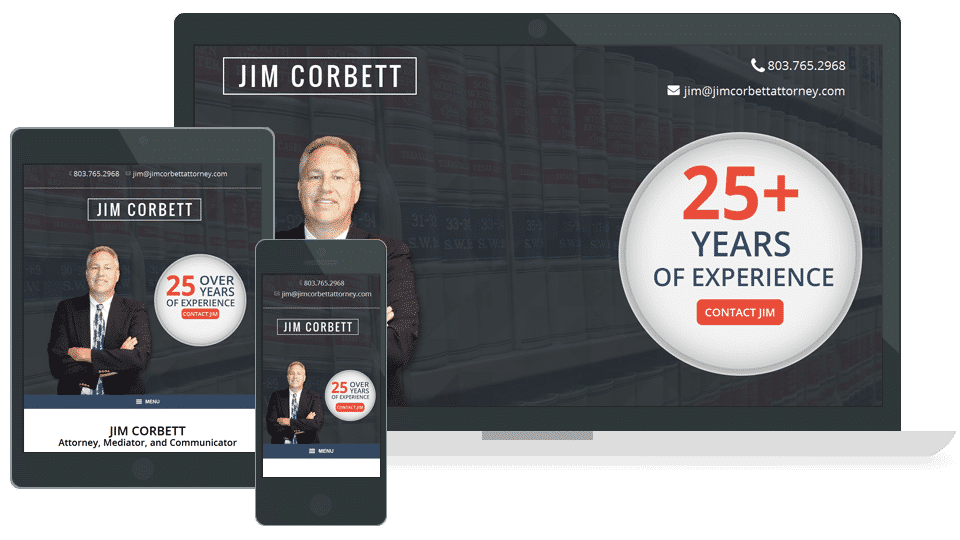 Jim Corbett Attorney Website Columbia, SC