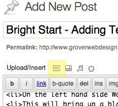 Bright Start Tutorial Adding Picture to a WordPress Post