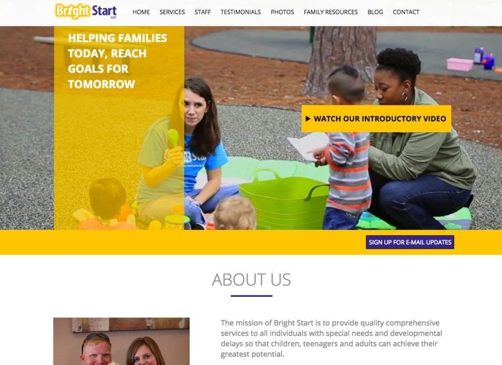 Bright Start and c1films Collaboration with Grover Web Design